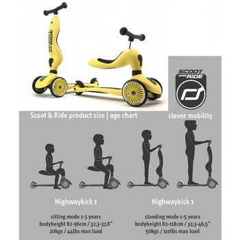 Scoot & Ride Scoot & Ride Highwaykick 1 yellow