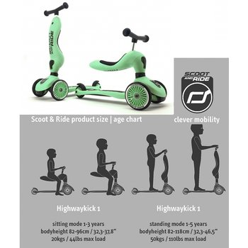 Scoot & Ride Scoot & Ride Highwaykick 1 green