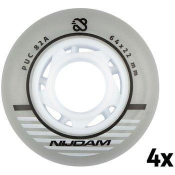 Nijdam Set 4 Wielen Voor Inlineskates 64 x 22 mm 85A