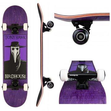 Birdhouse Birdhouse Stage 3 Plague Doctor Purple Skateboard 7.5
