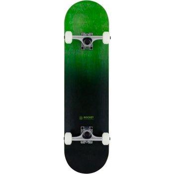 """Rocket Skateboards Rocket Skateboard - Double dipped Black Green 8"""""""
