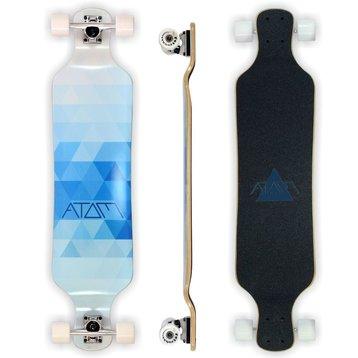 "Atom Atom 39"" Blue Triangles - dropdeck  longboard"