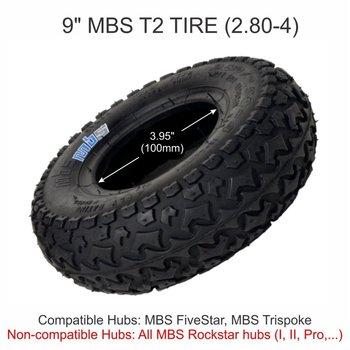 """MBS MBS T2 tire 9"""" - black"""