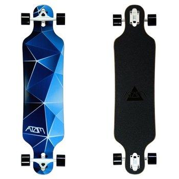"Atom Atom 40"" drop through longboard - Blue Geo"