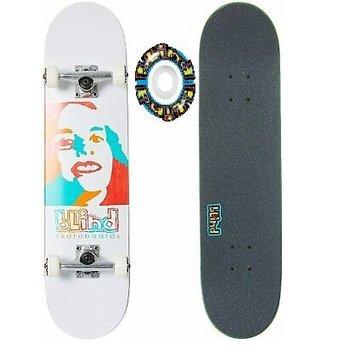 "Blind Blind Psychedelic Girl - complete board white 7.75"""