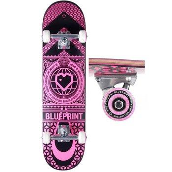 Blue Print Blueprint Home Heart - Black/Pink 7.75