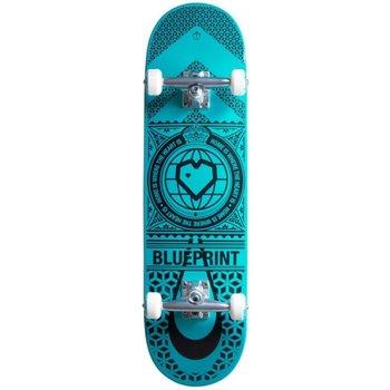 Blue Print Blueprint Home Heart - Black/Teal 8.25