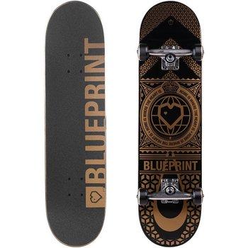 "Blue Print Blueprint Home Heart - Black/Gold 8.0"""