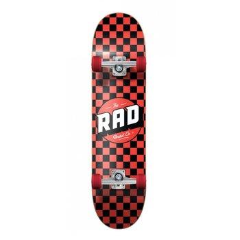 Rad Rad Dude Crew Checkers 7.5 Black/Red Skateboard