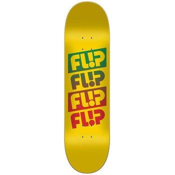 Flip Flip Quatro faded yellow-  Skateboard Deck 8.0
