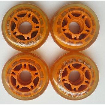 Recommand wielset 4 stuks transparant Roni oranje 72mm