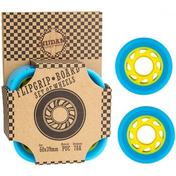 Nijdam Nijdam- Flip grip board wielen. Blauw/geel