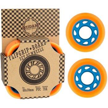 Nijdam Nijdam- Flip grip board wielen. Oranje/blauw