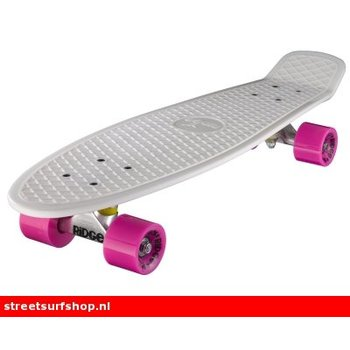 "Ridge Ridge Retro board 27"" White deck with pink wheels"