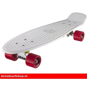 "Ridge Ridge Retro board 27"" White deck with red wheels"