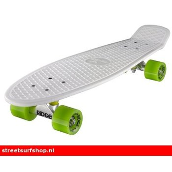 "Ridge Ridge Retro board 27"" White deck with green wheels"