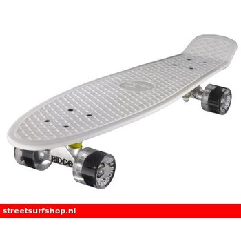 "Ridge Ridge Retro board 27"" White deck with clear wheels"