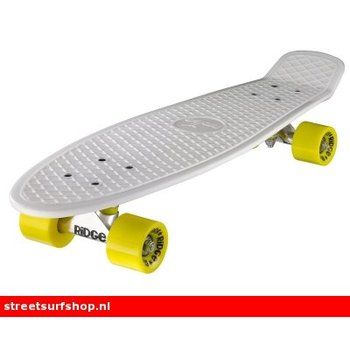 "Ridge Ridge Retro board 27"" White deck with yellow wheels"