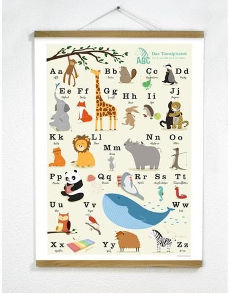 Vierundfünfzig Illustration ABC Poster 50 x 70 cm