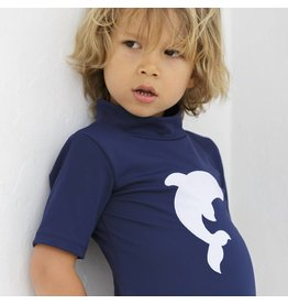 Petit Crabe UV-Shirt Turtle neck blau Delfin 50+