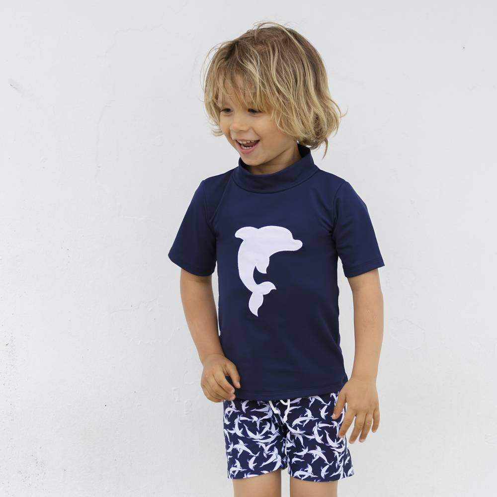 Petit Crabe UV Shorts blau Delfin 50+