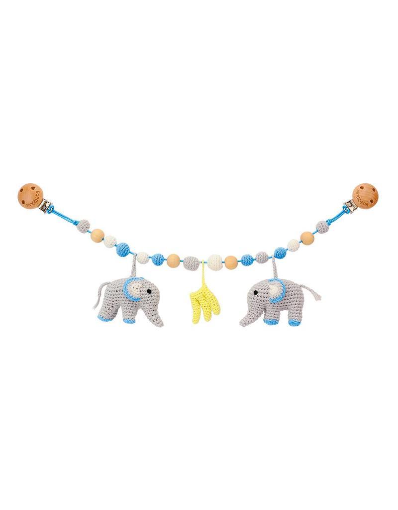 Sindibaba Kinderwagenkette Elefant blau
