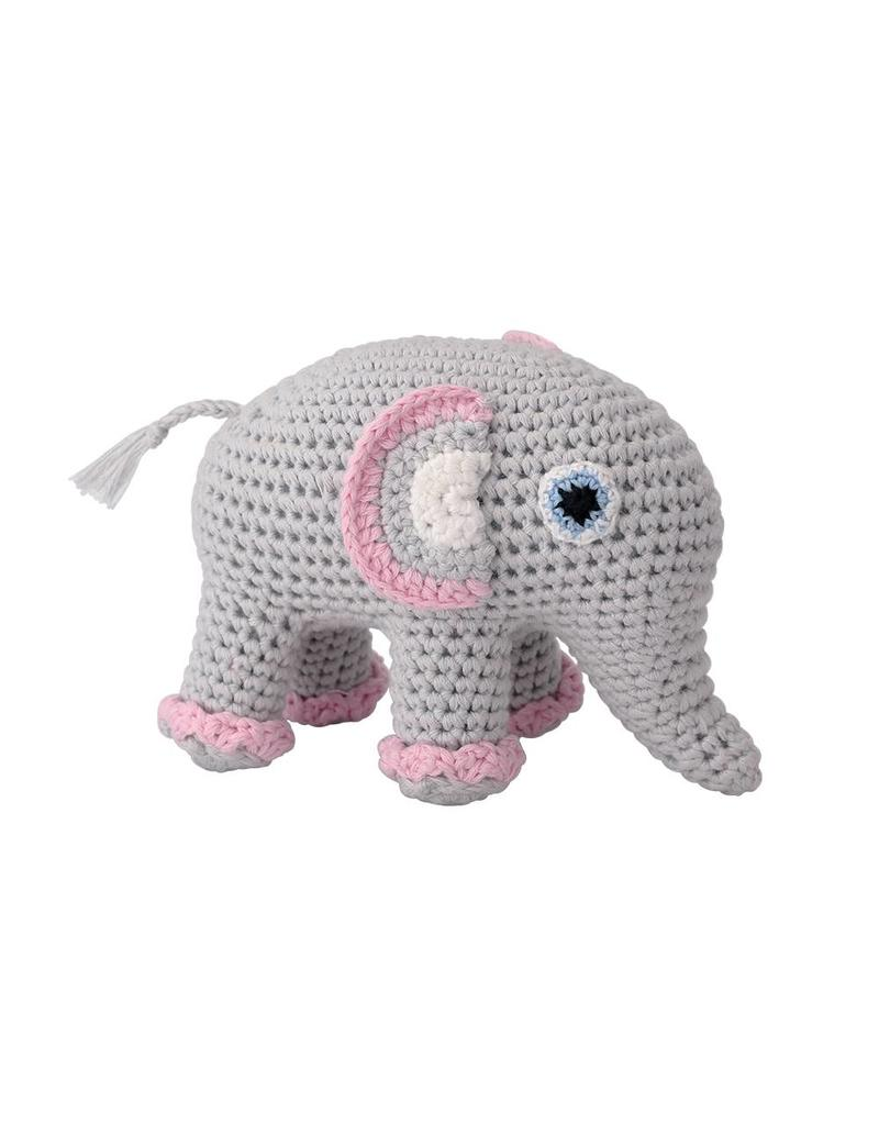 Sindibaba Häkelelefant rosa