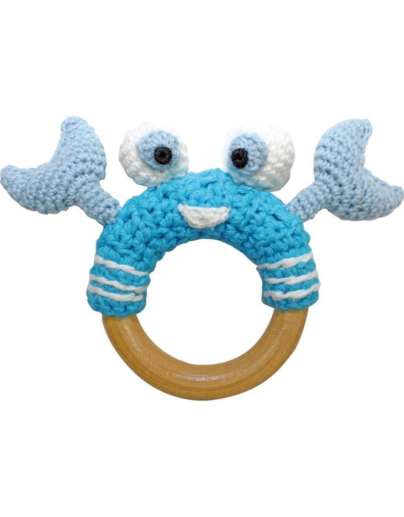 Sindibaba Beissring Krabbe gehäkelt