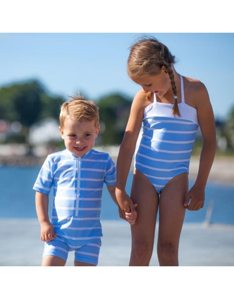 Petit Crabe Badeanzug hellblau UV-Schutz 40/50+
