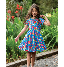 Frugi Skater Dress Frühling Lotusblume