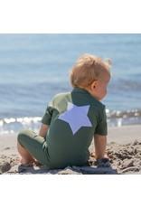 Petit Crabe UV-Anzug mit Stern grün 50+