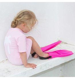 Petit Crabe UV-Anzug rosa Palme 50+