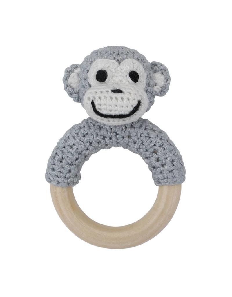 Sindibaba Häkelaffe auf Ring grau