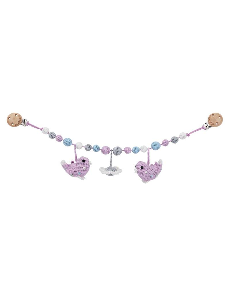 Sindibaba Wagenkette Vögelchen lila