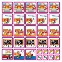 School - 31 pictogrammen (meisje)