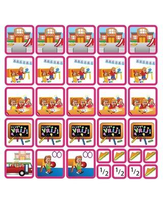 Zonneroosje School - 31 pictogrammen (meisje)