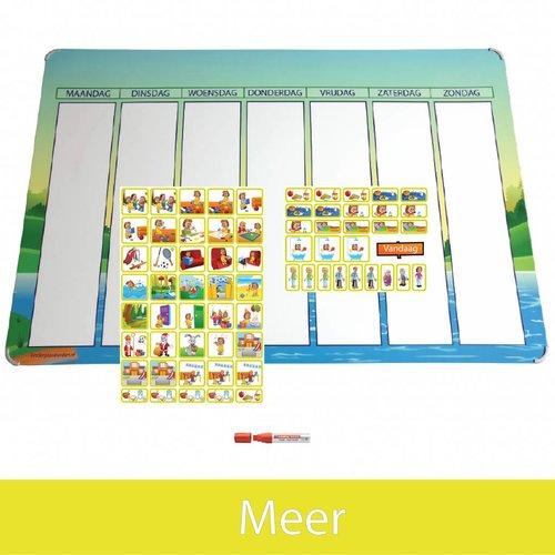 Kinderplanborden Planpakket Meer - (meisje)