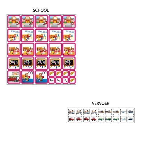 Kinderplanborden Planpakket Meer - groot (meisje)