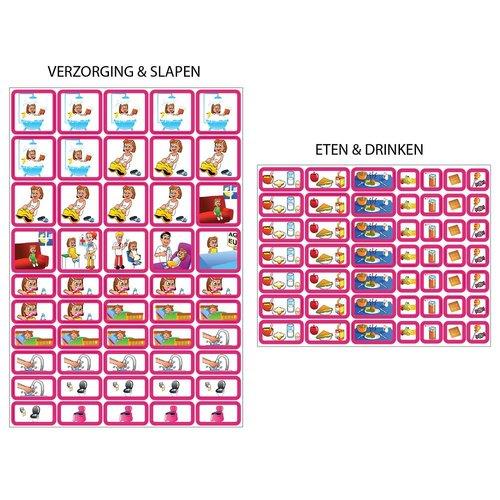 Kinderplanborden Planpakket Blauwe Ster - groot (meisje)