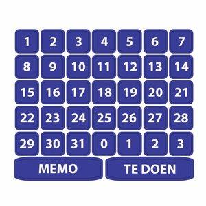 Kinderplanborden Maanddagen - 37 magneetjes