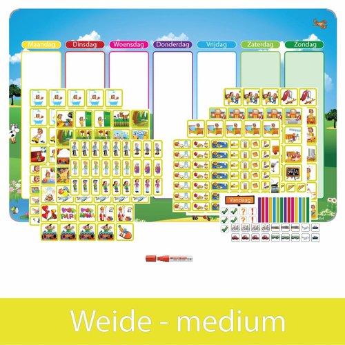 Kinderplanborden Planpakket Weide - medium (meisje)