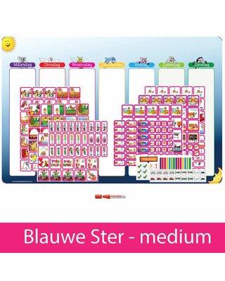 Kinderplanborden Planpakket Blauwe Ster - medium (meisje)