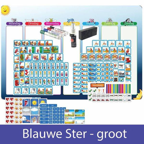 Kinderplanborden Planpakket Blauwe Ster - groot (jongen)