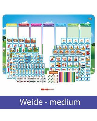 Kinderplanborden Planpakket Weide - medium (jongen)