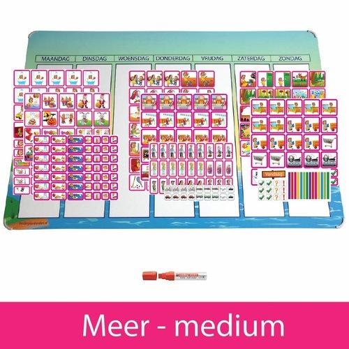 Kinderplanborden Planpakket Meer - medium (meisje)