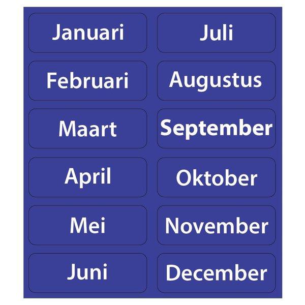 Kinderplanborden Maanden van het jaar - 12 magneetjes