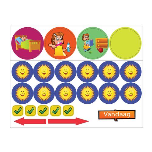 Kinderplanborden Basis belonen - magneetjes meisje