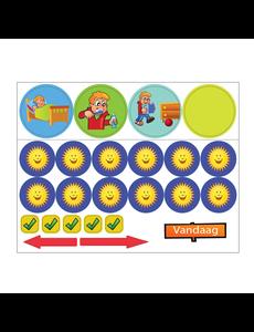 Kinderplanborden Basis belonen - magneetjes jongen