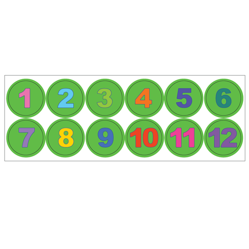 Kinderplanborden Belonen - getallen klok