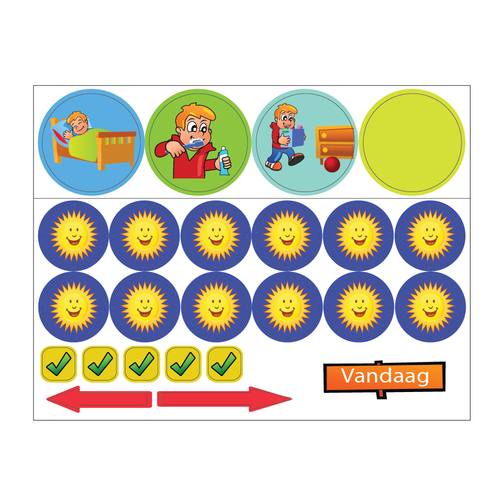 Kinderplanborden Beloningspakket jongen